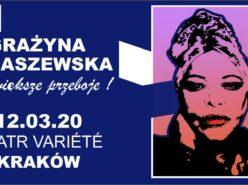 Grażyna Łobaszewska na krakowskim koncercie z największymi przebojami
